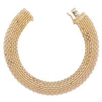Stefano Oro 14K Yellow Gold Golden Silk Bracelet