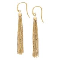 Boucles d'oreille à franges en or jaune 14 ct Seta de Stefano Oro