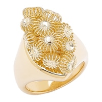 Stefano Oro 14K Gold Diamond Cut Sunburst Ring