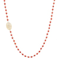 Stefano Oro 14K Yellow Gold Ricami Romanza Coral Necklace