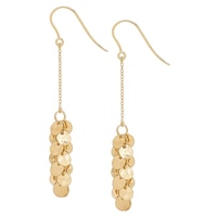Boucles d'oreille en or jaune 14 ct Treasure de Stefano Oro