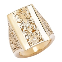 Stefano Oro 14K Yellow Gold Damascato Ring