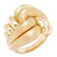 Bague artistique en or jaune 14 ct Love Knot de Stefano Oro