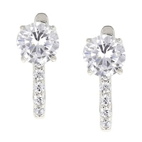 Toscana Diamonelle Sterling Silver Latch Back Earrings