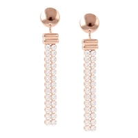 Toscana Diamonelle Sterling Silver Drop Earrings