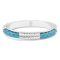 Roberto by RFM Faux Leather Braided Twist Bangle