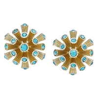 Roberto by RFM Coral Design Button Stud Earrings