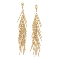 R.J. Graziano Metal Fringe Drop Earrings