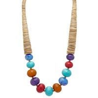 R.J. Graziano Faceted Wood Bead Necklace