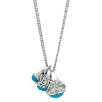 R.J. Graziano Turquoise Ring Drop Necklace