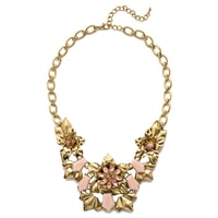 GLAMOUR Floral Bib Necklace