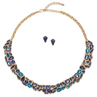 Glamour The Sophia Statement Necklace & Earring Set