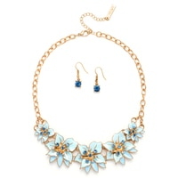 GLAMOUR Pretty Blooms Floral Necklace & Earrings Set