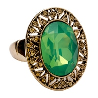 GLAMOUR Sweet Candy Oval Framed Crystal Stretch Ring