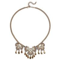 GLAMOUR Hint of Blue Multi Stone Frontal Necklace