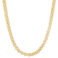 Stefano Oro 14K Yellow Gold Panther Necklace