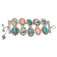 Betsey Johnson Multi Stone Toggle Bracelet