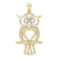International Gold 10K Yellow Gold Owl Pendant