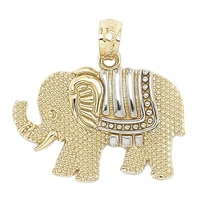 International Gold 10K Yellow Gold Elephant Pendant