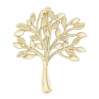 International Gold 10K Yellow Gold Family Tree Pendant