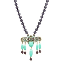 Heidi Daus Bee-Jewelled Fringe Necklace