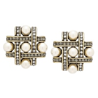 Heidi Daus Tic Tac Toe Earrings
