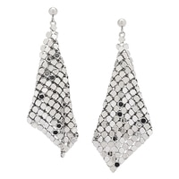 Emma Skye Stainless Steel Mesh Drape Earrings
