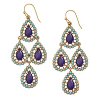 GLAMOUR All About The Drops Stone Drop Earrings
