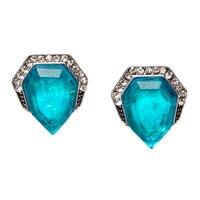 GLAMOUR Magical Blue Geometric Framed Earrings