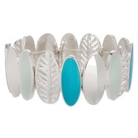 GLAMOUR Majestic Feather Stretch Bracelet