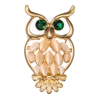GLAMOUR Sitting Pretty Crystal Owl Pin