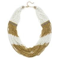 Collier orné de perles multicolores Winning Strands de Glamour