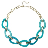 GLAMOUR Annie Turquoise Link Necklace