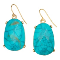 GLAMOUR Annie Turquoise Drop Earrings