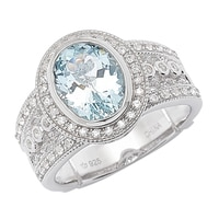 Dallas Prince Sterling Silver Aquamarine Ring