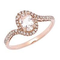 Morganite Gems 10K Rose Gold 0.70 ctw Morganite Ring