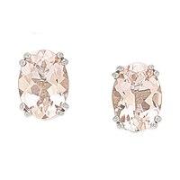 14K Gold 1.25 ctw Morganite Stud Earrings