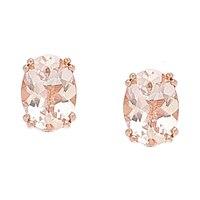 Morganite Gems Sterling Silver 1.25 ctw Morganite Stud Earrings