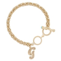 Jewellery of The Grand Bazaar Initial Byzantine Turquoise Bracelet