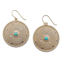 Jewellery of The Grand Bazaar Diamond Cut Turquoise Earrings