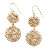 Jewellery of The Grand Bazaar Filigree Bead Dangle Earrings
