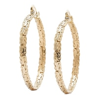 Jewellery of The Grand Bazaar Large Byzantine Hoop Earrings