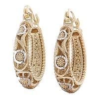 Jewellery of The Grand Bazaar Textured Hoop Earrings