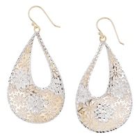 Jewellery of The Grand Bazaar Floral Cut-Out Teardrop Earrings
