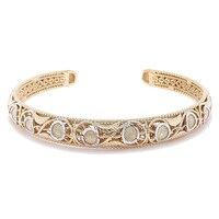 Jewellery of The Grand Bazaar Textured Diamond Cut Cuff Bangle