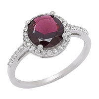 Sigal Style Sterling Silver Candy Gemstone Ring