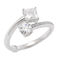 TYCOON for Diamonelle Sterling Silver Celebration Ring