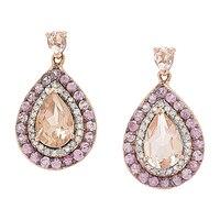 Morganite Gems 14K Rose Gold 2.44 ctw Morganite & Pink Sapphire Earrings