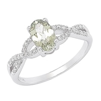 Bague parée d'une zultanite et de diamants sur or blanc 14 ct de Zultanite Gems