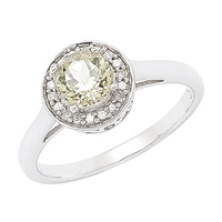 Zultanite Gems Sterling Silver Zultanite & Diamond Ring